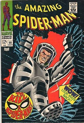 Amazing Spider-Man 58 Silver Age(1968)Ka-Zar And Spider Slayer Robot Appearance