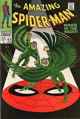 Amazing Spider-Man 63 Silver Age(1968) Vulture And New Vulture Appearance.