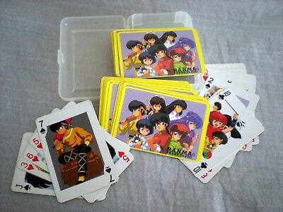 Ranma 1/2 anime deck of playing cards