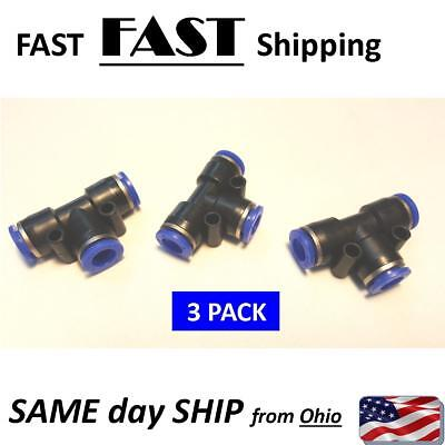 """5/16"""" pneumatic air tube hose connector 3 way fitting 8mm OD splice push type"""