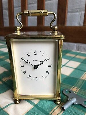 Vintage Dominion 8 Day Brass Carriage Clock Slightly Faulty