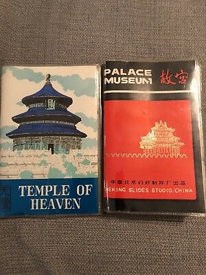 Vintage Lot Of 2 China Travel Slides Books Temple Of Heaven Palace Museum