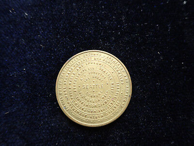 Unusual And Rare Seattle Mosquito Fleet Route Map Token Medal Storecard