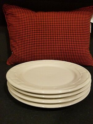 longaberger ivory woven tradions large dinner plates set of 4 never used *look*
