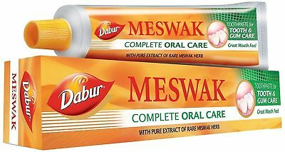 Dabur Meswak Toothpaste Ayurvedic Extract of Miswak Herbal Oral Care | 200g.