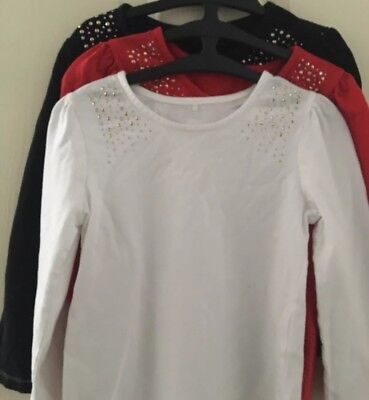 George Girls X3 Long Sleeve Tops With Jewel Detail 4-5 Years Old