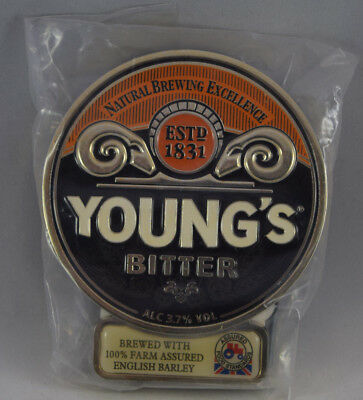 NEW YOUNGS BITTER PLASTIC Ale Beer Pump Clip MAN CAVE