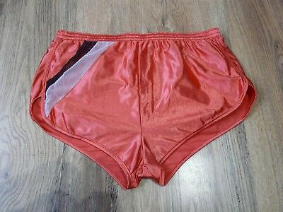 Vintage Shiny High Cut Sprinter Shorts Glanz Running Size Large (S501)