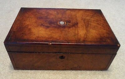 Antique Victorian writing slope requiring restoration or for spares and repairs.