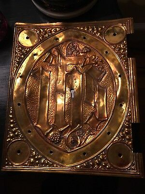Edwardian Tabernacle brass door St Augustine's Church Leicester IHS Church
