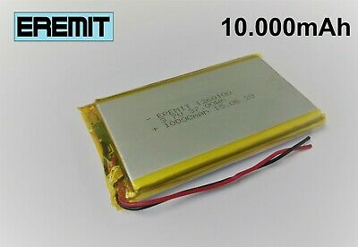 Lithium Polymer LiPo Batterie Akku 10000mAh 3.7 V 1S Powerbank PCB Tablet 10