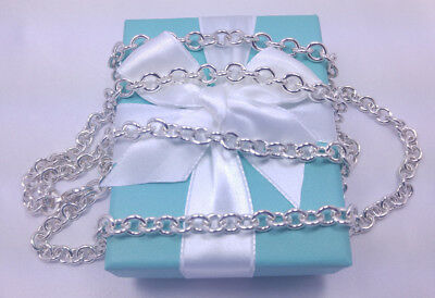 NEW Tiffany & Co. Double Chain Two Row 18 24 Inch Necklace Sterling Silver 925