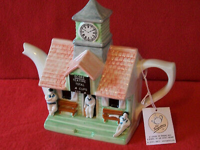 ** Old Fashioned Cricket Pavillion Large Teapottery Teapot** * Excellent Con *