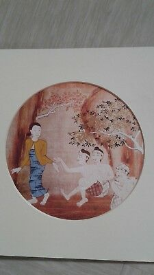 vintage traditional Thai Painting by Amarit Limsuepchua