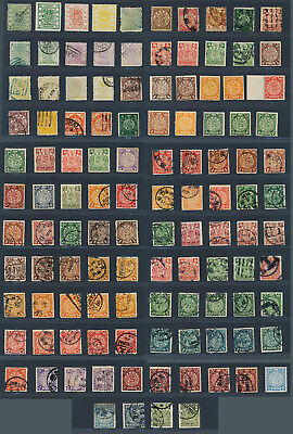 China Lot 114 Stamps 1878-1909 großer/kleiner Drache Candarin used/unused MH