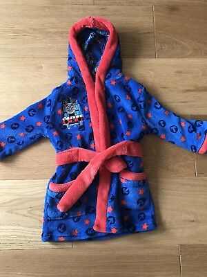 New Baby Boys Thomas Dressing Gown Size 9-12 Months