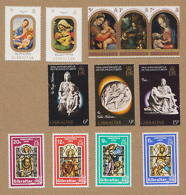 Lot of 35 Christmas Easter Religious Art European Postage Stamps 1960s 1970s