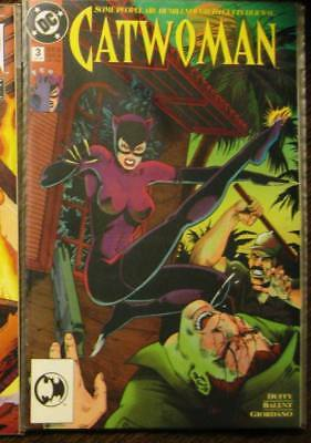 CATWOMAN 1, 3 (first ongoing series, Bane, Knightfall) 1993