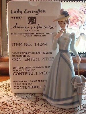 "2003 Home Interiors & Gifts Victorian Lady Covington Porcelain 10"" Figurine"