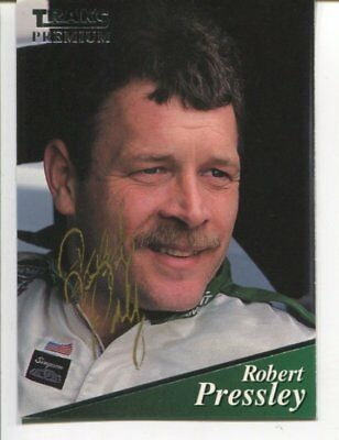 NASCAR racing Robert Pressley with COA signed autograph NO RESERVE B2729