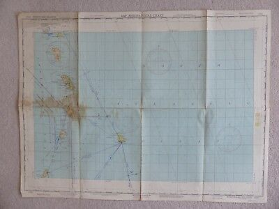 old map AAF aeronautical chart windward islands