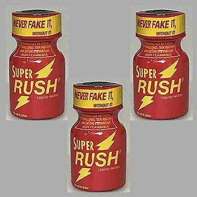 Pack 3 poppers  Super RUSH rouge 10 ml