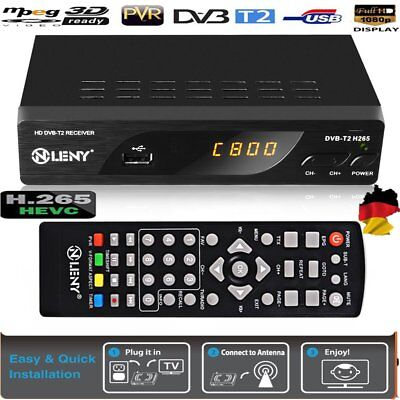 Full HD HEVC DVB-T2 Receiver H.265 HEVC HDMI Mediaplayer USB Scar Freenet D6