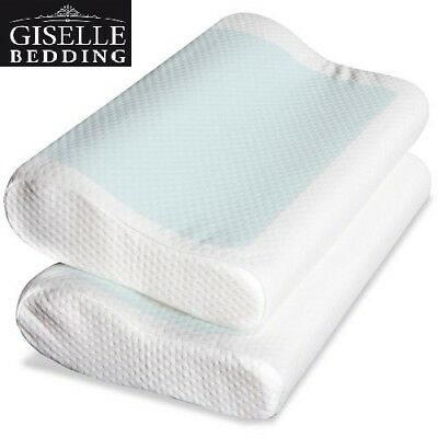 Giselle Bedding 2x Supreme Memory Foam Pillow Contour Cool Gel Home Hotel Cover