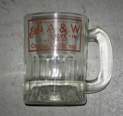 Ed's Drive-In Orange, California A&W Root Beer Baby Mug 1950s Very Good Conditio
