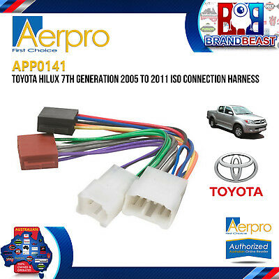 APP0141 Toyota Hilux 7th Generation 2005-2011 Headunit Car Stereo Iso Connection