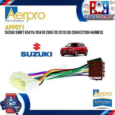 Suzuki Swift Rs415/rs416 2005-2010 Head Unit Car Stereo Iso Connection Harness