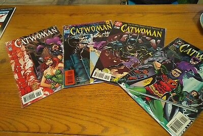 Lot of 4 Catwoman single issue comics