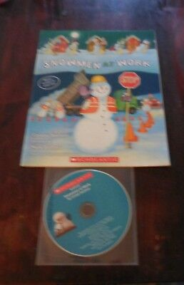 Snowmen At Work by C. Buehner New Scholastic Listening Center 1 Book with CD