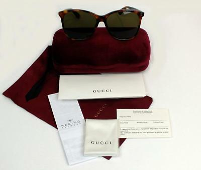 New Gucci Sunglasses Gg0024S 002 Havana