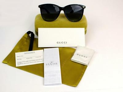 New Gucci Sunglasses Gg0024S 003 Black/Havana