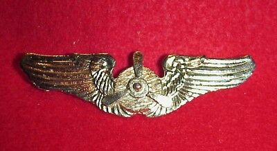 Vintage WWII WW2 US Army Air Force USAAF AAF Flight Engineer Wings Pin Homefront