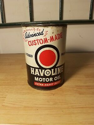 Vintage Texaco havoline motor oil can