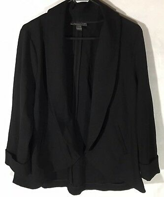 A Pea In The Pod Maternity Black Suit Blazer Jacket Cuffed Sleeve Large