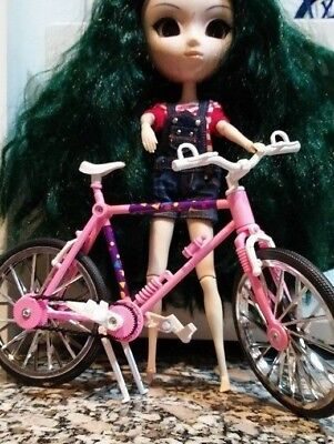 Plastic Pink Bicycle for Barbie,Blythe, Pullip *DOLL NOT ENCLUDED*
