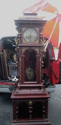 Antique Victorian Highly Carved Grandfather Clock c. 1880/1890 Adorned STUNNING!