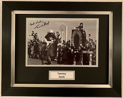 Tommy Stack Hand Signed Framed Photo Display Red Rum Grand National.