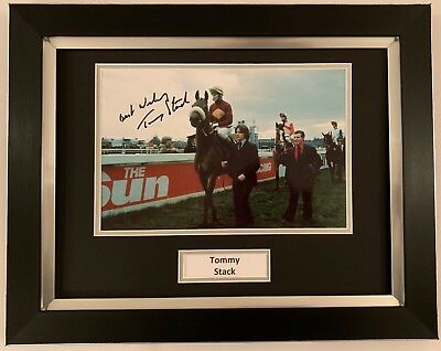Tommy Stack Hand Signed Framed Photo Display Red Rum Grand National 1.
