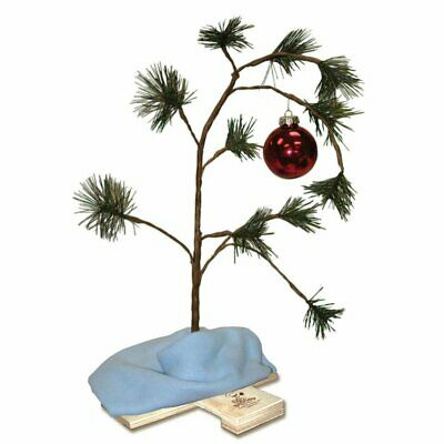 ProductWorks Charlie Brown Christmas Tree with Linus's Holiday Décor 24 Inches