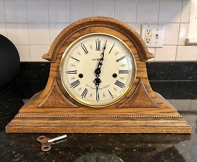 60th Anniversary Howard Miller Mantle Clock - Vintage Antique Rare Old Running