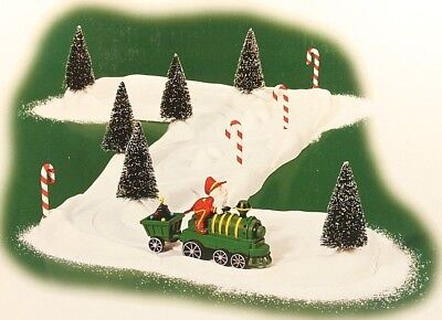 Department 56 North Pole Animated Train with Track 53030 For Parts or Repair