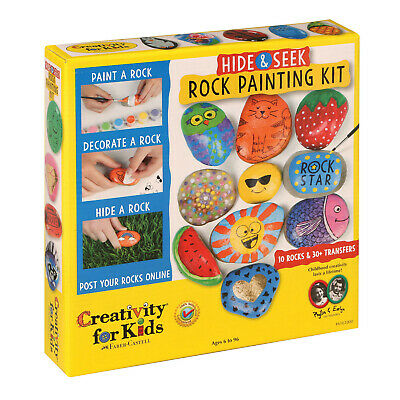 Hide & Seek Rock Painting Art Kit - River Stone Craft Set with Accessories