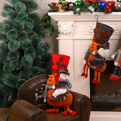 50cm Christmas Stocking 3D Snowman Decoration Hanging Sock Gift Bag Party Decor