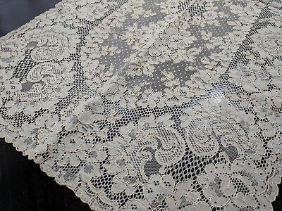 Antique Vintage Ivory French Alencon Lace Table Dresser Runner Tag NVR Used