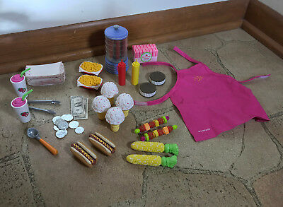 American Girl Doll Snack Cart food items