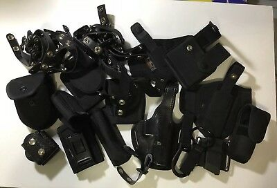 Lot of Misc Police Duty Belt items & off-duty Glock holsters Used Gear